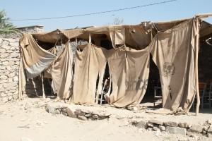 Tente pour les cours en extérieur à Bibi Hafassa